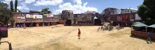 The Venue, Zanzibar's Old Fort, before the festival