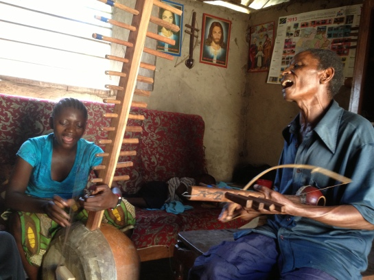 "Mzee Ndahani & daughter Grace play ""mazeze"""
